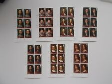 2010 Kings & Queens House of Stuart Set of 7 in Cylinder Blocks of 6 U/M Cat £70