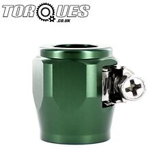 Un -8 (an8) 15mm Teflon verde scuro Carburante Tubo Morsetto Rifinitore