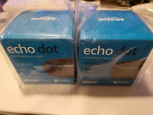 TWO Amazon Echo Dots (3rd Generation) Smart Speakers - Charcoal