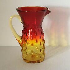"""Vintage Amberina 6"""" Glass Pitcher"""