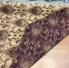 50 yard roll Monte Cristo Wine Damask Fabric Chenille upholstery sofa couch