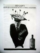 PUBLICITE-ADVERTISING :  OLD LADY'S  Dry Gin  1990 Alcool,Professeur,Fléchettes