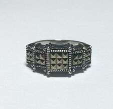 JJ JUDITH JACK 925 STERLING SILVER LADIES MARCASITE GORGEOUS WOMANS RING BAND