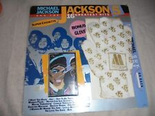 Vtg Michael Jackson Greatest Hits Cassette Glove Cut Out Motown 1984 Cardboard