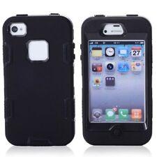 Apple iPhone 4 4S Outdoor Case Silikon Hybrid Defender Robust Hülle Bag Schwarz