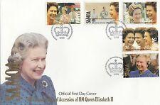 (94938) Samoa FDC Queen 40 yaers Accession 6 February 1992