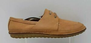 Men's CLARKS Tor Size 9 Tan Nubuck Leather   Casual Loafers Leather Laced In EUC