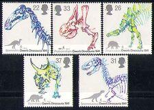 GB 1991 FOSSILI DINOSAURI// ANIMALI PREISTORICI/SCHELETRI/NATURA SET 5 V (n30659)