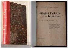 ISTITUZIONI PUBBLICHE DI BENEFICENZA Pironti 1908 ORDINAMENTO E AMMINISTRAZIONE