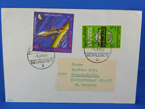 JORDAN OLD SPACE COVER 1966 BETHLEHEM TO GERMANY  [A2/59]