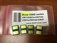 4 DRUM Chip for use in OKI C900 series, C911, C931, C941, C942 Refill