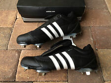 NIB! Adidas EXCELSIOR 4.0 Mens Baseball Metal Cleats Size 14 Black & White WOW!!