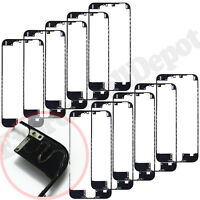 "10X lot Plastic Front Frame Bezel LCD Holder iPhone 6 PLUS 5.5"" Black w/Hot Glue"