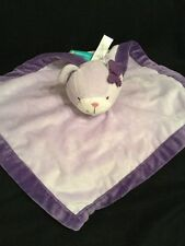 Tiddliwinks Lavendar Purple Teddy Bear Baby Security Blanket Lovey Butterfly