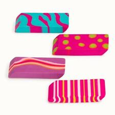 SCHOOL SUPPLIES Creative Colors Eraser Set - Multicolored - 4 Pieces