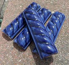 50~ Talavera Cobalt blue 4.25 X 1.50 inch rope Liner trim tile Mexico Hand Made