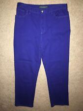 NWOT LRL Lauren Jeans CO. Ralph Lauren Women Cotton Stretch Blue Jeans Size 12