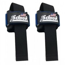 Schiek Power Lifting Straps 1000 PLS Blue Gym Workout Weightlifting Training