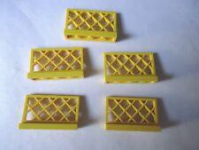 LEGO Parte 3185 GIALLO 1 x 4 x 2 x 5 RECINZIONE