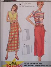 Super Easy BURDA 3207 Misses Skirt in 2 lengths PATTERN 8-18 UC