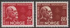 Stamp Norway Sc 0292-3 1948 Norwegian Society Forestry Axel Heiberg Norge MNH