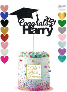 172. Graduation Cake Topper, Choose Your Name, Glitter, Custom , Personalised