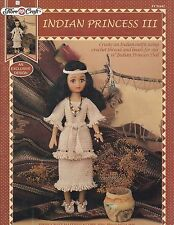 Indian Princess III, Fibre Craft Doll Clothes Crochet Pattern Booklet FCM442