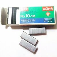 Max Staple Clinch Flat 5mm Office Supplies No10-1M Stapler Remover Staples 1 Box