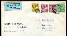 ANTIGUA: (19537) 1929 FIRST AIR MAIL to New York cover