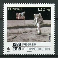 France 2019 MNH Apollo 11 Moon Landing 50th Anniv 1v Set Flags Space Stamps