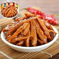 Food 8g Chinese Popular Delicious BBQ Fish Hot Spicy Strips Snack