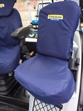 NEW Holland T6 T7 TSA PASSENGER SEAT cover con logo [Navy/Blu] IVA INCLUSA