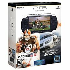 Limited Edition PSP 3000 Black Sports Entertainment Pack Very Good 3Z