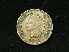 SUMMER SALE!! XF 1903 INDIAN HEAD CENT PENNY w/ DIAMONDS & FULL LIBERTY #95s