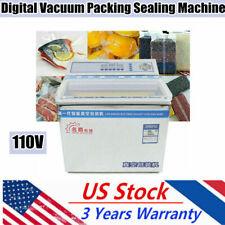 200w Commercial Vacuum Sealing Packaging Machine Vacuum Tabletop Sealer Chamber