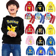 Pokemon polar para Niños Sudaderas Pijama Set conjunto Pikachu Sudadera Jersey