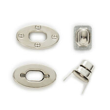 10 Sets Silver Tone Oval Clasps Twist Turn Lock Handbag Bag Accessories 39x23mm