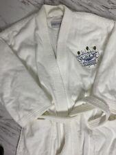 Frette Large Velour Terry Cloth Bath Robe Shawl Collar White Unisex