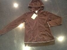 NWT Juicy Couture New & Gen. Ladies Small Brown Cotton Maternity Hoody With Logo