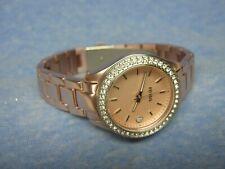 """Women's FOSSIL """"Stella"""" Water Resistant Gemmed Watch ES-2976 w/ New Battery"""
