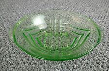 Uranium Glass Fruit Bowl Vintage Mid Century Vaseline Glass
