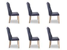 6x Stühle Stuhl Polster Design Chesterfield Garnitur Sessel Komplett Set Ashley