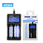 Xtar VC2 USB Li-ion Battery LCD Charger For 3.7V 10440 18650 26650 Batteries new