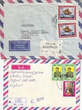 M846 Iraq  12 different stamped covers air UK; 1970s - 1990s