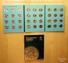 2000 - 2017 36 Sacagawea Native American PD US Mint Roll BU Set w/Whitman Folder