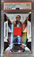 2009-10 Stephen Curry Panini Certified Rookie Auto Jersey 345/399 Graded PSA 9