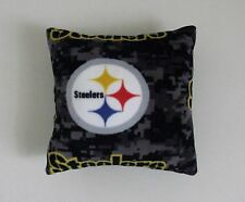 1-PITTSBURGH STEELERS 12X12 PRINTED FLEECE THROW PILLOW- 7 DIFFERENT PRINTS