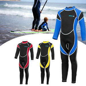 Boys Girls Kids Wetsuit Keep Warm Full Body Swimsuit One Piece Wet Suit Swimming