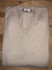 PETER MILLAR 100% Pure Cashmere Mens V Neck Sweater Sz XL Has HOLES