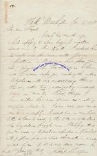 Schuyler Colfax signed letter re list of Republicans & mod Democrat - Grant's VP
